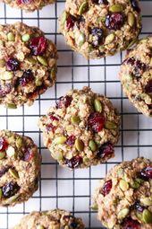 Superfood Breakfast Cookies | Vegan friendly. Gluten, dairy, and refined sugar f…