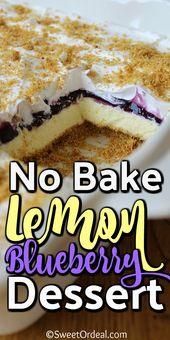 No Bake Lemon Blueberry Dessert