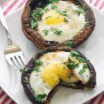 Eggs Baked in Portobello Mushrooms – perfect with @Safest Choice Eggs!…