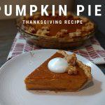 Creamy Pumpkin Pie Recipe