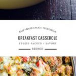 This savory vegetarian make-ahead breakfast casserole is brimming with vegetable…