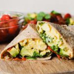 Healthy, protein-packed vegetarian breakfast burritos. Made with roasted tomatoe…