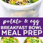 Vegetarian Meal Prep Idea for Breakfast – Make Ahead Mexican Breakfast Bowls Mea…