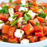 Our Favorite Watermelon Salad Recipe with Herbs and Feta