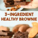 3 Ingredient Healthy Brownies Recipe – easy sweet potato chocolate brownies made…