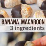 Chocolate Banana Coconut Macaroons