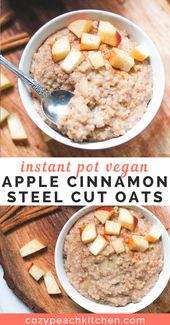 You can make these apple cinnamon steel cut oats in your Instant Pot in no time!…