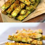 Healthy Baked Zucchini Fries with Parmesan Cheese