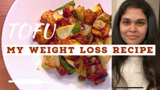 My Healthy Weight Loss Recipe in 10mins || Air Fried Crispy TOFU || Reduce Fat in Belly ||