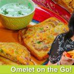 Omelet on the Go Fast & Easy Breakfast Idea Recipe in Urdu Hindi – RKK