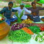 BIG VEGETARIAN RECIPE | BISI BELE BATH | Healthy Vegetables Recipe | Sambar Sadam Cooking In Village