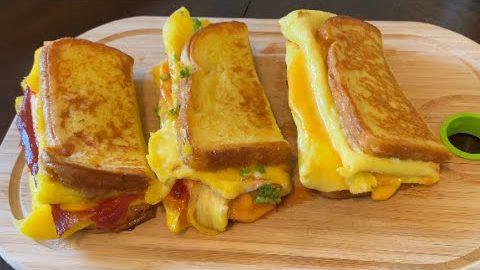 One Pan Egg Toast – Three Ways | Korean Style French Toast Omelette | Breakfast Egg Recipes