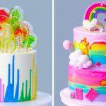 Easy Colorful Cake Recipes For November | Yummy Dessert Tutorial For Your Family | So Tasty Cake