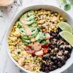 Plant-based, full of flavor, Fiesta Black Bean Bowls are perfect for your Cinco …