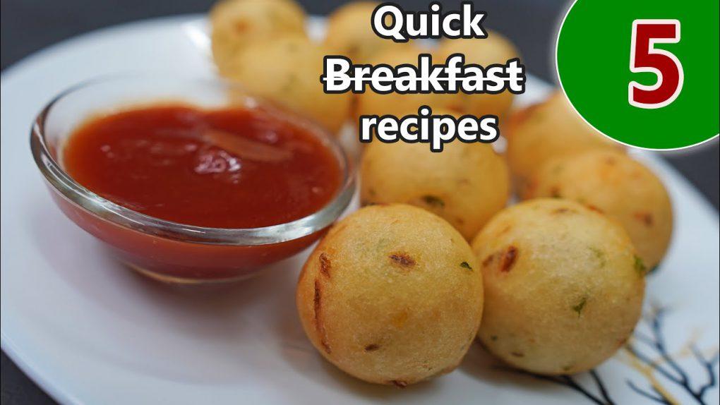 5 Monday to Friday Quick Breakfast recipes || Breakfast recipes