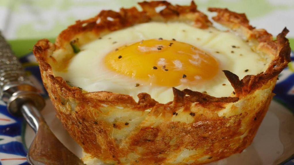 Hash Brown Breakfast Cups Recipe Demonstration – Joyofbaking.com