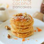 Carrot and Coconut Vegan Pancakes | minimalistbaker.com…