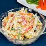 Mayonnaise Pasta Salad Recipe   Mayo Pasta   How To Make Mayonnaise Pasta Salad