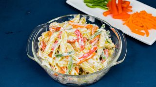 Mayonnaise Pasta Salad Recipe | Mayo Pasta | How To Make Mayonnaise Pasta Salad