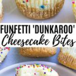 Best Ever Funfetti Cheesecake Bites