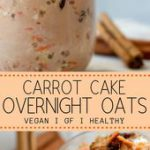 These carrot cake overnight oats are your new busy morning savour! With only 7 i…