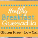 This Healthy Breakfast Quesadilla is filled with spinach, cheddar, and egg white…