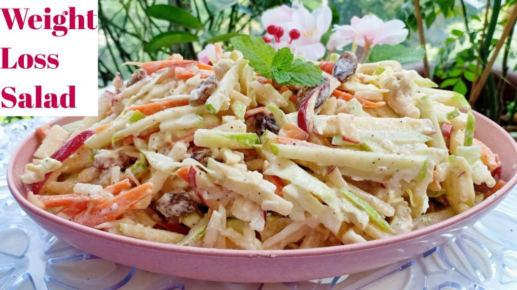 Creamy Carrot Apple Slaw | Weight Loss Salad Recipe | Easy Cabbage Apple Slaw
