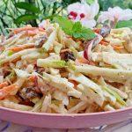 Creamy Carrot Apple Slaw   Weight Loss Salad Recipe   Easy Cabbage Apple Slaw