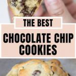Giant Chocolate Chip Cookies are thick, fluffy, crispy golden brown on the outsi…
