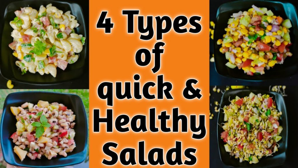 4 Healthy salad recipe for weight loss | Easy Salad recipes | Best Healthy Tasty Salad recipes