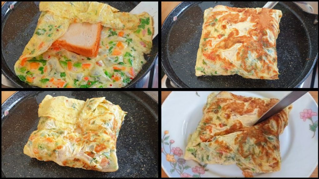 Cheesy Bread Omelette Sandwiches Recipe ❤️ | Easy Breakfast Recipes By Cook with Lubna ❤️