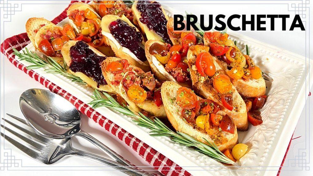 Bruschetta   Easy Appetizer Recipes for Holiday Parties   Easy  Bruschetta Recipe