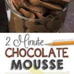 Easy No-Bake Chocolate Dessert Mousse! Just 3 Ingredients and the perfect serving for ONE.