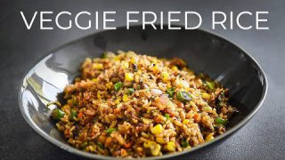 VEGGIE FRIED RICE RECIPE | EASY VEGETARIAN VEGAN CHINESE DINNER IDEA