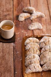 Croissants de lune aux noisettes – Biscuits sablés…
