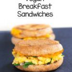 Totally vegan and soy-free, this vegan breakfast sandwich recipe is an easy, hea…