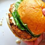 These vegan crispy chicken Caesar sandwiches are amazing. Baked crispy chickpea …