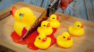 Stop Motion Cooking – Duck Breast Salad Recipe from Toys | Funny Videos ASMR Eating 4K