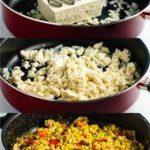 Vegan tofu scramble recipe with bell pepper and mushroom. This tastes amazing an…