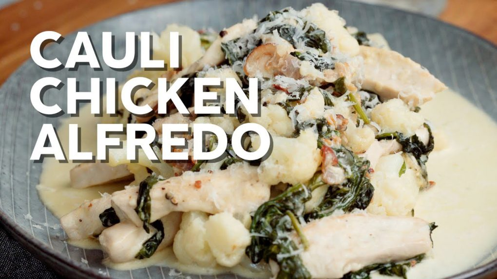 Keto cauliflower chicken Alfredo