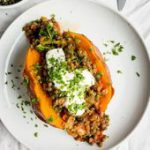 Stuffed Sweet Potatoes with Lentils, Kale and Sun Dried Tomatoes…