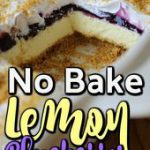 No Bake Lemon Blueberry Dessert | SweetOrdeal.com | 13 x 9