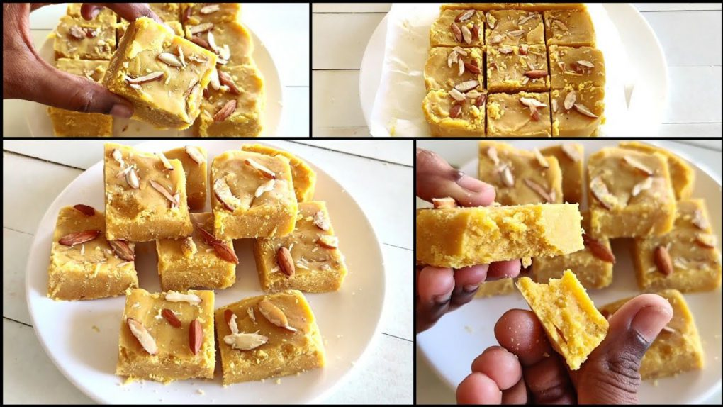 Besan Milk Burfi | Only 4 Main Ingredients Sweet Recipe | Milk Powder Burfi | Beauty Cooking