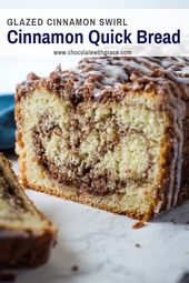 Cinnamon Roll Quick Bread – Chocolate With Grace