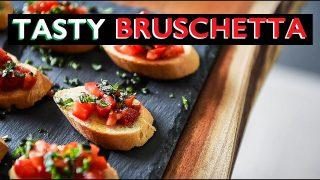 TASTY BRUSCHETTA RECIPE | CRAZY EASY VEGAN APPETIZERS