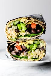 This Hummus Vegetable Wrap is a great on-the-go lunch option! Stuff it with all …