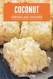 Coconut Cheesecake Squares Recipe
