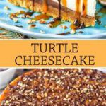 This Turtle Cheesecake is made with a graham cracker crust and plenty of caramel…