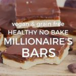 Healthy No-Bake Millionaire's Bars vegan twix bars recipe