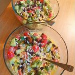 Fruitarian Dinner Salad Recipe Made Completely Out Of Fruits (No Veggies, 25 grams of protein)